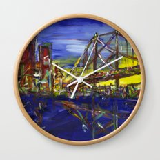 Philly Skyline with Ben Franklin Bridge Wall Clock