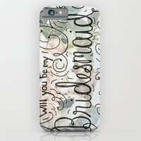 Will you be my bridesmaid? (Bouquet background) iPhone 6 Slim Case