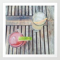 Summer Drinks Art Print
