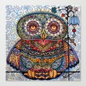 Magic  graphic owl  painting Canvas Print