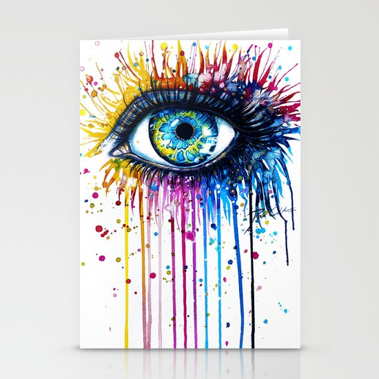 """Rainbow Eye"" Stationery Card"