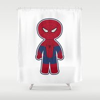 Chibi Spider-man Shower Curtain