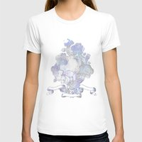 Skull & Roses Womens Fitted Tee White SMALL