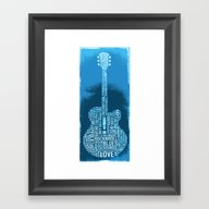 Blues Guitar Framed Art Print