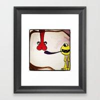 Get your mind in the gutter Framed Art Print