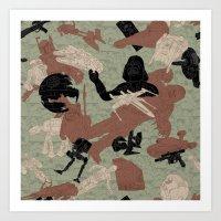 Endor Battle Camo Art Print