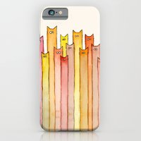 Cats Autumn Colors Patte… iPhone 6 Slim Case