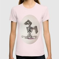 Mixed Media Drawing : Metamorphic Transition 1  Womens Fitted Tee Light Pink SMALL