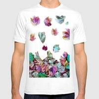 Autum Leaves Mens Fitted Tee White SMALL