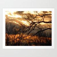 february sky Art Print