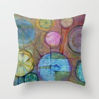 Lemons Juice the Juice of Life Throw Pillow