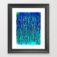 :: Blue Martini Celebrat… Framed Art Print
