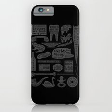 Useful Facts (On Black) Slim Case iPhone 6s