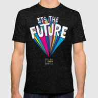 The Future Mens Fitted Tee Tri-Black SMALL