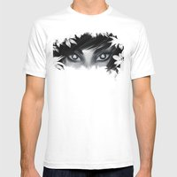 Triforce Stare Mens Fitted Tee White SMALL