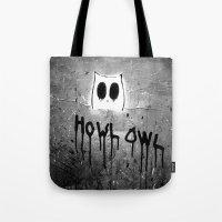 Howl Owl Graffiti Tote Bag