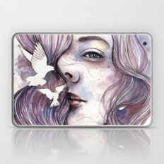 Dreams of freedom, watercolor artwork Laptop & iPad Skin