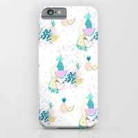 Fruiti tutti. Fruit, illustration, pattern, print, pineapple,  iPhone 6 Slim Case