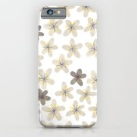 Grey and yellow flowers  iPhone 6 Slim Case