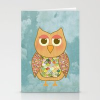 Woodland Owl In A Tree Stationery Cards