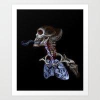 Blood, Breath, Bone Art Print