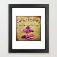 Framed Art Print featuring Sweets Vintage Poster 01 by Aloke Design
