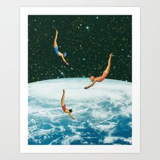 Space jumps Art Print