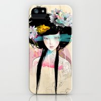 iPhone 5s & iPhone 5 Cases featuring Nenufar Girl by Ariana Perez