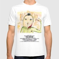 Taxi Driver Mens Fitted Tee White SMALL