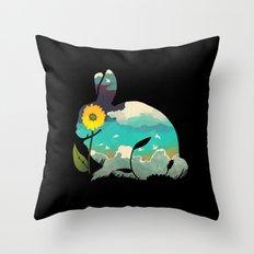 Rabbit Sky Throw Pillow