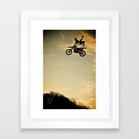 Eigo Sato at Sunset, FMX Japan Framed Art Print