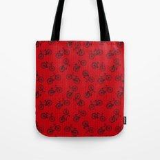 Red Bicycle Pattern Tote Bag