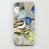 iPhone & iPod Case featuring Yellow Birds by Jo Cheung Illustration