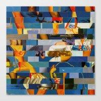 Shiver Me Ikea Timbers (Provenance Series) Canvas Print