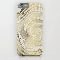 paint iPhone & iPod Cases featuring Gold Tree Rings by Cat Coquillette