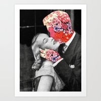 Bloomy Kiss Art Print