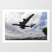 British Airways A380 Hea… Art Print