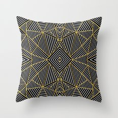Ab Half Gold Throw Pillow
