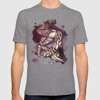 She's A Monster Mens Fitted Tee Tri-Grey SMALL