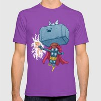 The Mighty Mjolnir Mens Fitted Tee Ultraviolet SMALL
