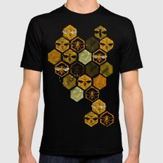 Dance of Bees SMALL Mens Fitted Tee Black