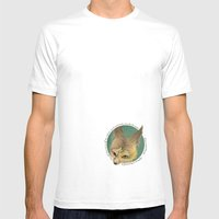 Fox And Mask  Mens Fitted Tee White SMALL