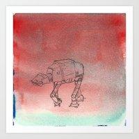 AT-AT migraine Art Print