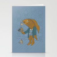 Big Eyed Fish Stationery Cards