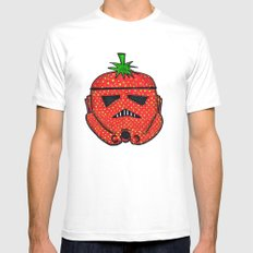 Strawberry Stormptrooper White Mens Fitted Tee SMALL