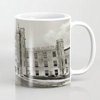 Northern Illinois University Castle - Black and White Mug