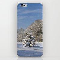 Snowy Christmas Tree iPhone & iPod Skin