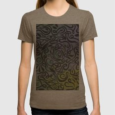 Blue vines  Womens Fitted Tee Tri-Coffee SMALL