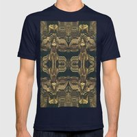 Stalagmites Version 1 Mens Fitted Tee Navy SMALL