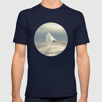 Free Falling Dream Mens Fitted Tee Navy SMALL